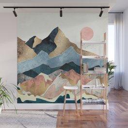Golden Peaks Wall Mural