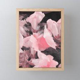Light Pink Snapdragons Abstract Flowers Framed Mini Art Print