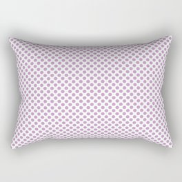 Violet Tulle Polka Dots Rectangular Pillow