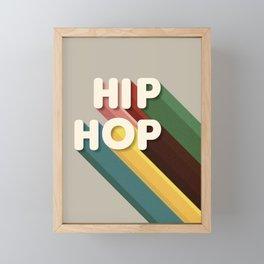 HIP HOP - typography Framed Mini Art Print