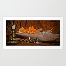 Still Life with Gladioli Art Print