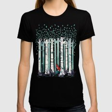 The Birches MEDIUM Black Womens Fitted Tee