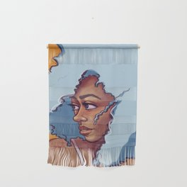 Blue Haired Bombshell Wall Hanging