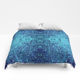 Deep blue glass mosaic Comforters