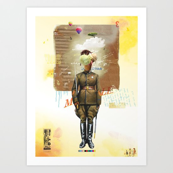 I Scream Art Print