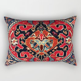Qashqa'i Antique Fars Persian Bag Face Print Rectangular Pillow