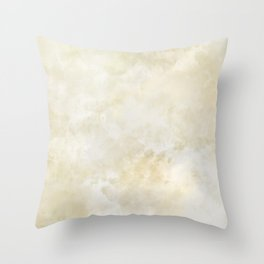 Grunge beige watercolor marble background Throw Pillow