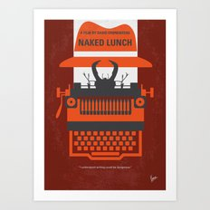No534 My Naked Lunch minimal movie poster Art Print