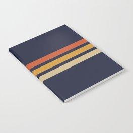 Vintage Retro Stripes Notebook