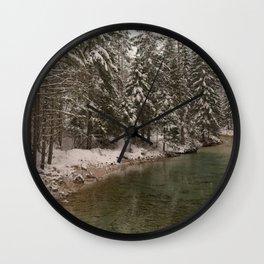 Picturesque Triglavska Bistrica River Wall Clock