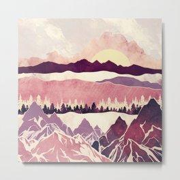 Burgundy Hills Metal Print