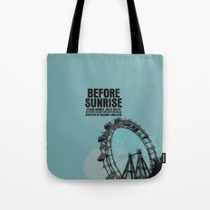 Before Sunrise Movie Poster Tote Bag