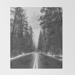 ROAD TRIP IV / Yosemite, California Throw Blanket