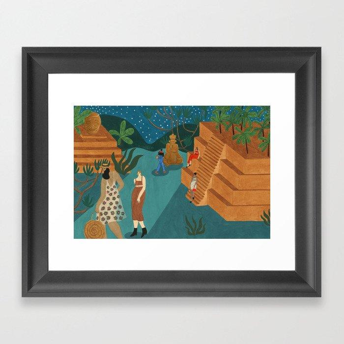 Copan, Honduras Gerahmter Kunstdruck