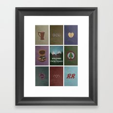 Twin Peaks colors Framed Art Print