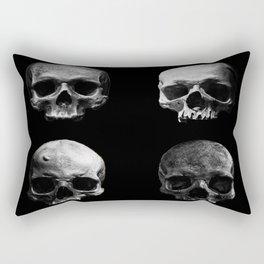 Skulls quartet BW Rectangular Pillow
