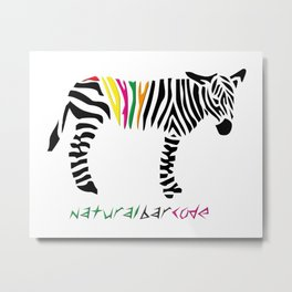 natural barcode Metal Print