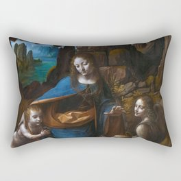 "Leonardo da Vinci ""The Virgin of the Rocks"" (London) Rectangular Pillow"