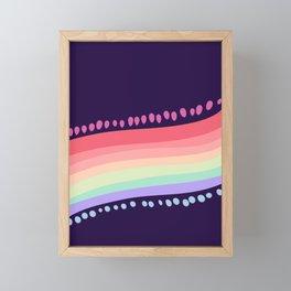 Darker(er) Rainbow Framed Mini Art Print