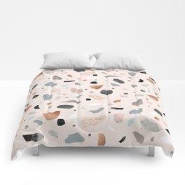 Terrazzo Stone Confetti blush Comforters