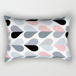 Love and Kisses in Pink and Grey Rectangular Pillow