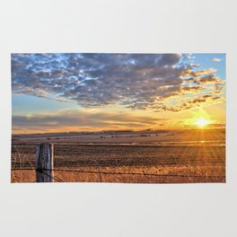 Sunset Fenceline 2 Rug