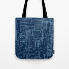 Electropattern (Blue) Tote Bag