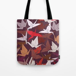 Japanese Origami paper cranes symbol of happiness, luck and longevity, sketch Tote Bag