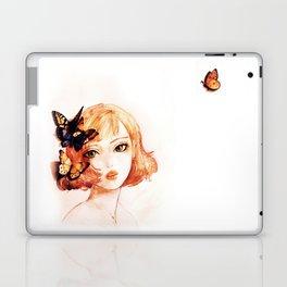 butterfly girl Laptop & iPad Skin