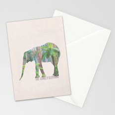The Lonely Elephant Stationery Cards