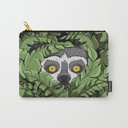 Lemur hiding in plants Carry-All Pouch