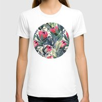 vintage T-shirts featuring Painted Protea Pattern by micklyn