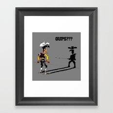 Fast shadow - OUPS - grey version Framed Art Print