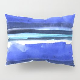 Wave Stripes Abstract Seascape Pillow Sham