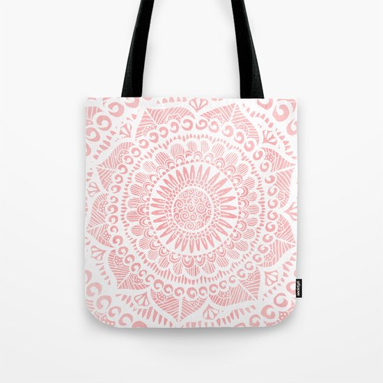 Blush Lace Tote Bag