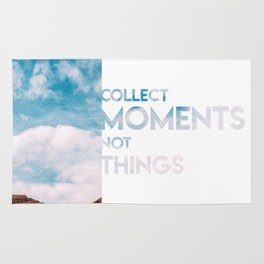 Moments Not Things Rug