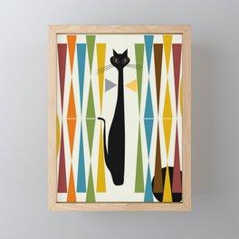 Mid-Century Modern Art Cat 2 Framed Mini Art Print