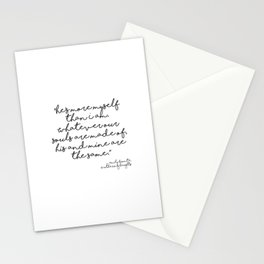 More myself than I am - Bronte quote Stationery Cards