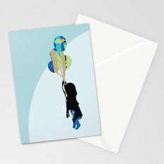 Little Girl With Balloons Stationery Cards