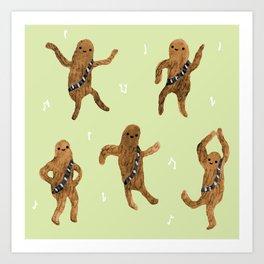 Wookie Dance Party Art Print