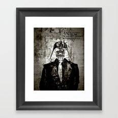 Unreal Party Darth Vader Framed Art Print