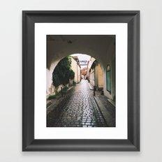 Visby Street Framed Art Print