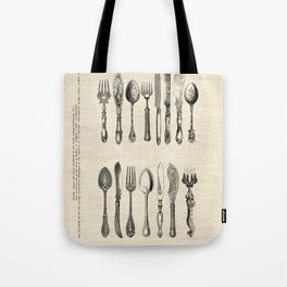 antique cutlery Tote Bag