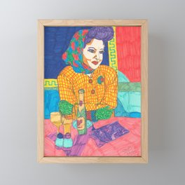 Cafe, Painted Ladies Collection Framed Mini Art Print