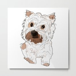 West Highland Terrier dog Metal Print