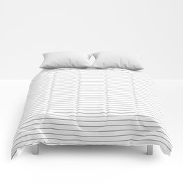 Simple Black and White Stripes Comforters