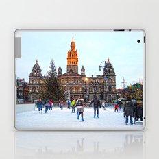 Ice Skating At Christmas  Laptop & iPad Skin