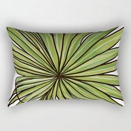 Digital Water Color Palm Frond Design Rectangular Pillow