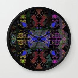 Ritual of Snake Shedding Skin Mystical Shamanic Landscape Oil Painting Wall Clock