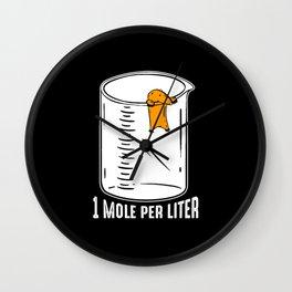 Funny Mole I Garden |Gardener I Saying Wall Clock